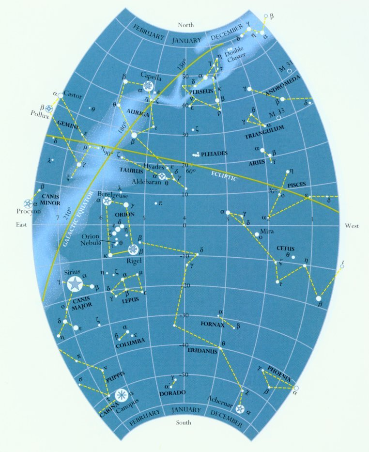 constellations in sky. constellation lines; Sky